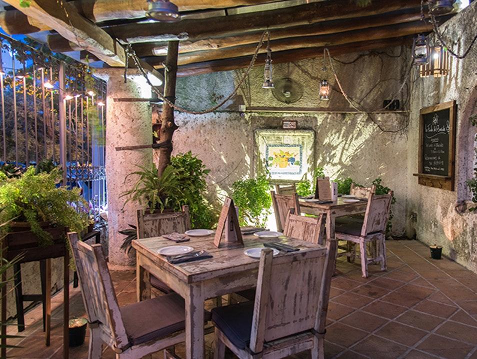 Very rustic restaurant in Cancun