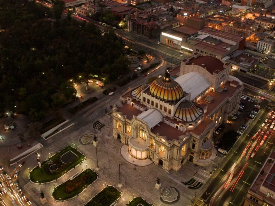 The Palace of Bellas Artes in Mexico City